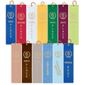 "2"" x 8"" Victory Torch Square Top Wrestling Award Ribbons"