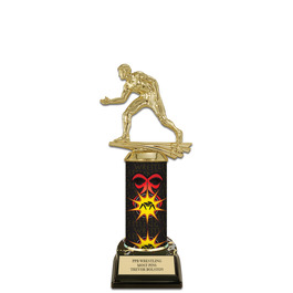 """10"""" Black HS Base Wrestling Award Trophy"""